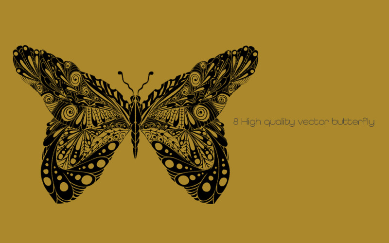 Hand-drawn Butterfly Kit Logo Template