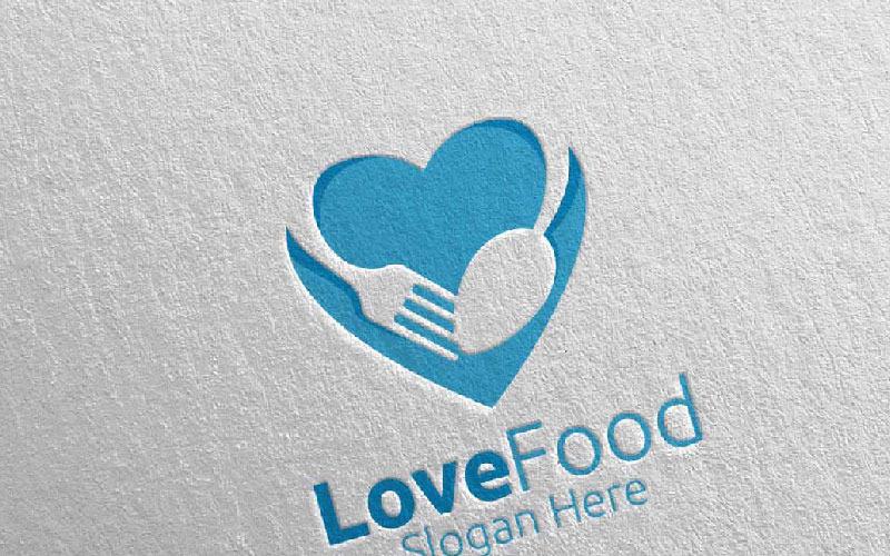 Aimer les aliments sains pour le modèle de logo Restaurant ou Cafe 11