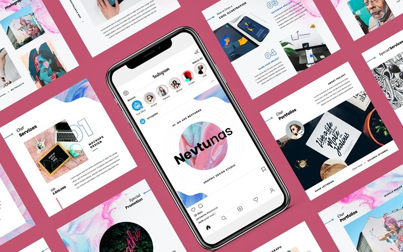 Nevtunas - Business Instagram Google Slides
