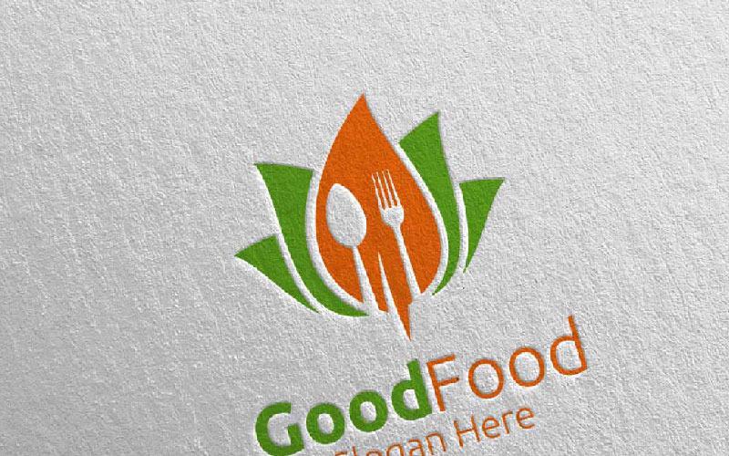 Plantilla de logotipo de alimentos saludables para restaurante o cafetería 5