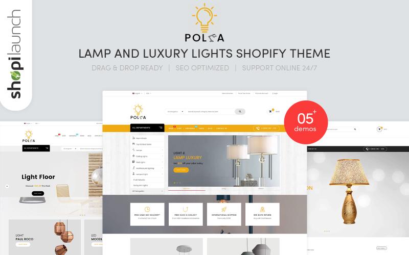 Polka - Адаптивна тема Shopify для ламп та розкішних вогнів