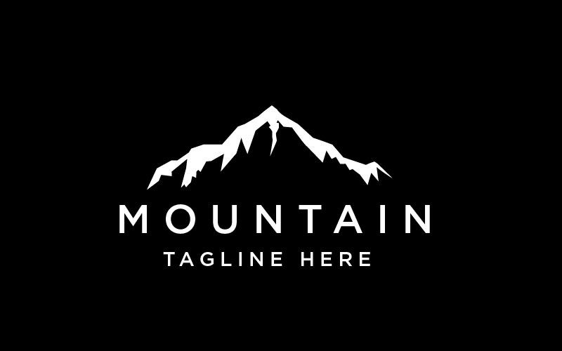 Line Mountain Logo Template