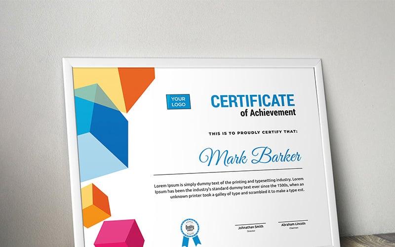 Modern Cubic Certificate Template