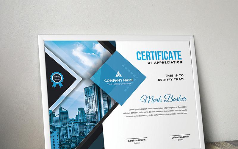 Современный элегантный шаблон сертификата