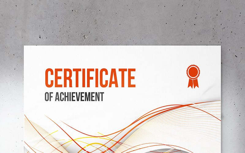 Wavy Abstract Certificate Template