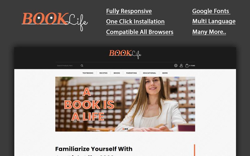 Booklife - Modèle OpenCart de librairie