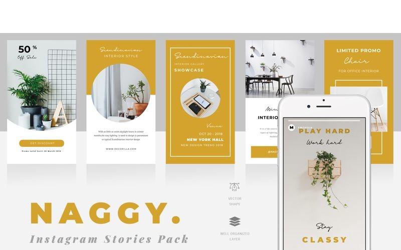 Naggy  - Instagram Stories Social Media Template