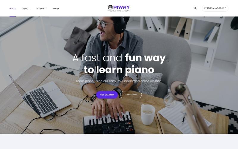 Piway - Plantilla Joomla creativa multipágina de música
