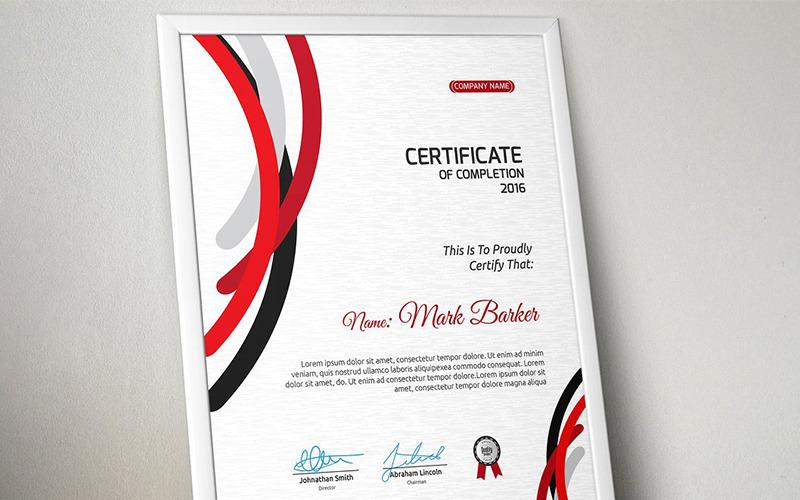 Curvy Stripes Certificate Template