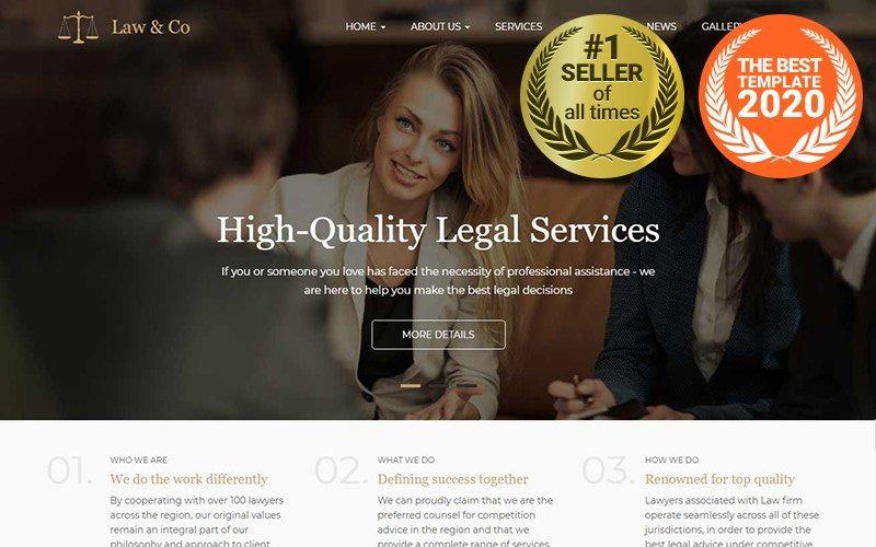 Law & Co - responzivní šablona Drupalu