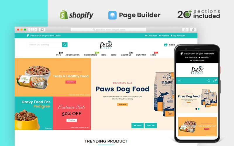 Тема для зоомагазинів «Лапи» Shopify