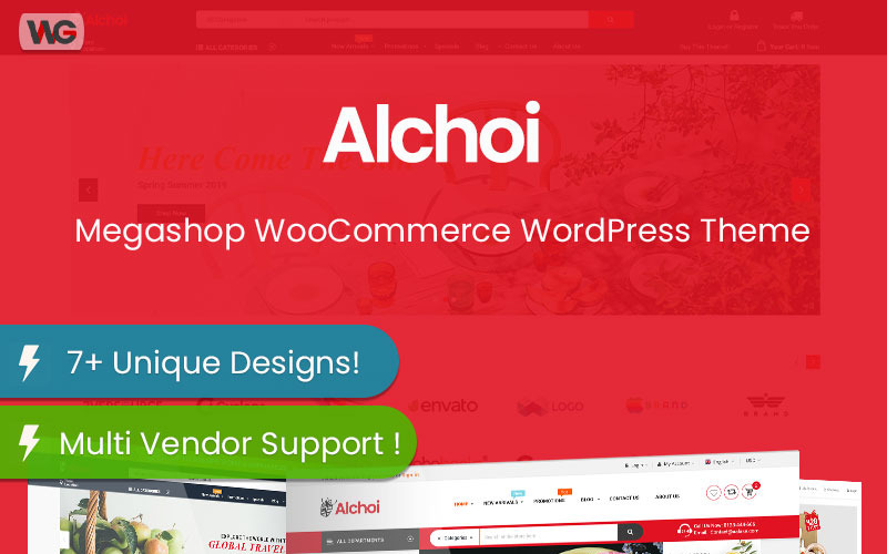 Alchoi - Megastore Marketplace WooCommerce Theme