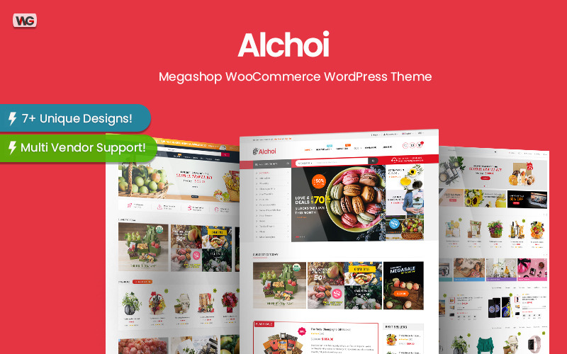 Alchoi - Thème WordPress WooCommerce de Megastore Marketplace