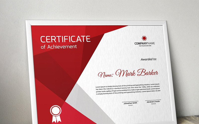 Geometric Modern Certificate Template