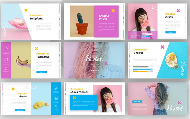 Pastelowy kreatywny szablon programu PowerPoint
