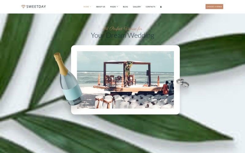 Sweetday - Hochzeitsorte Mehrseitige Joomla-Vorlage