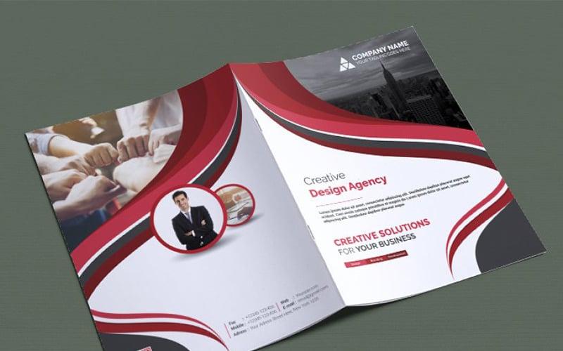 Curvy Bifold Brochure - Corporate Identity Template