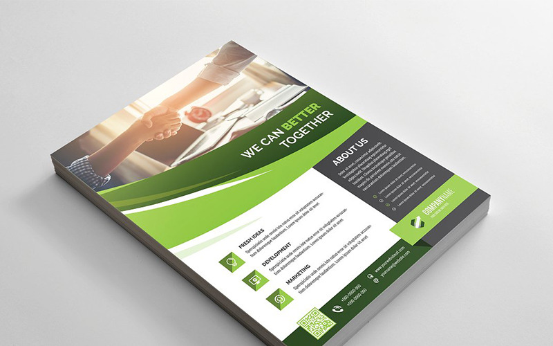 Curvy Flyer - Corporate Identity Template