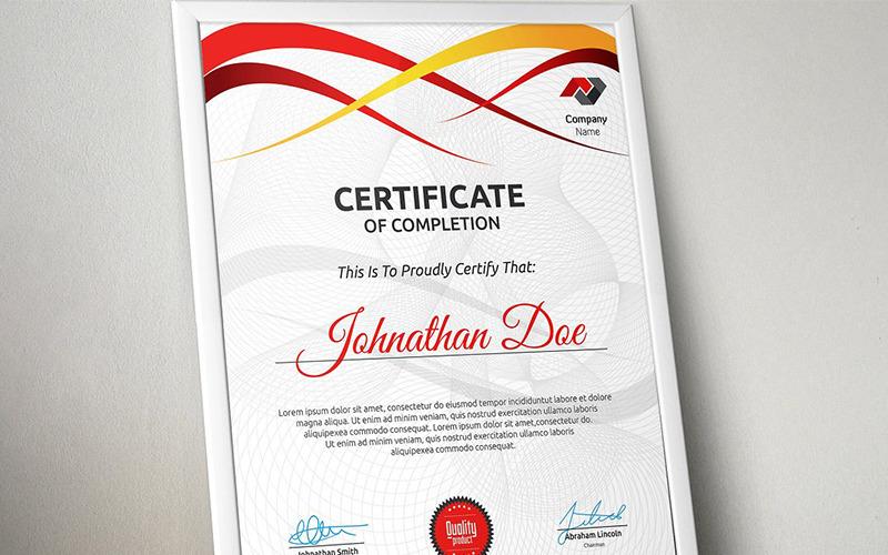 Волнистый современный шаблон сертификата