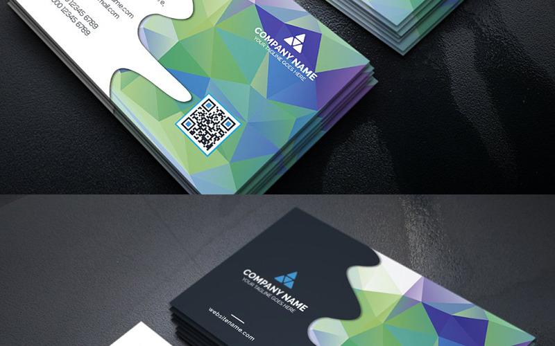 Абстрактная визитная карточка - шаблон фирменного стиля