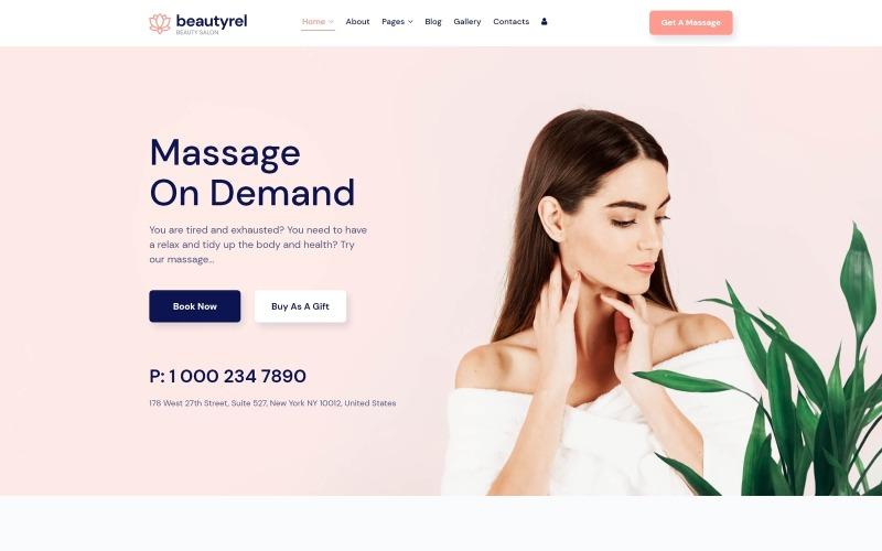 Beautyrel - szablon Joomla dla salonu piękności
