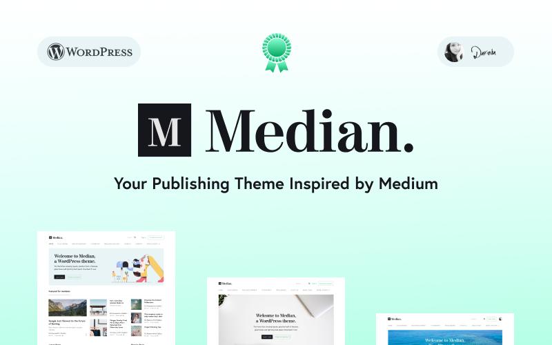 Median - Blog zainspirowany motywem Medium's Design WordPress