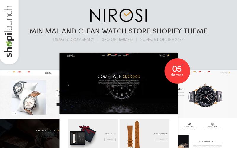 Nirosi -  Minimal & Clean Watch Store Shopify Theme