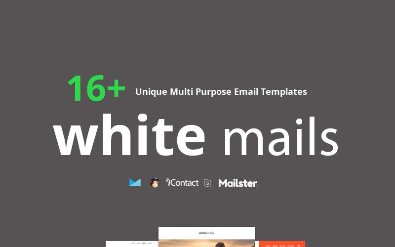 White Mails - ponad 16 unikalnych, uniwersalnych szablonów biuletynów