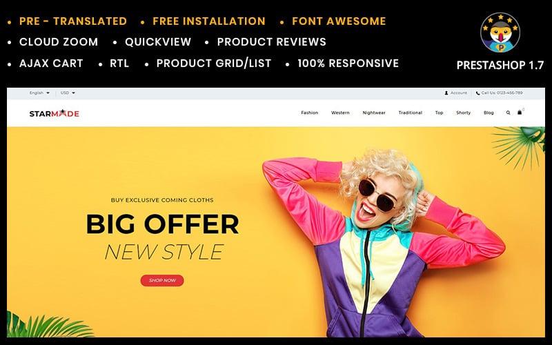 Starmode kiegészítők bolt PrestaShop téma