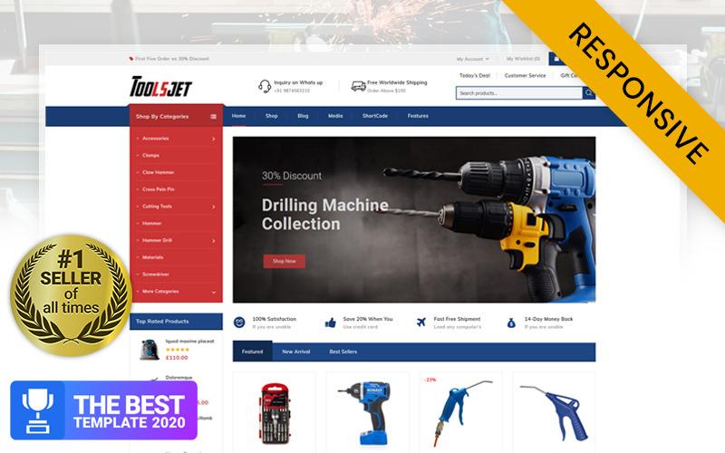 Toolsjet - železářství WooCommerce téma