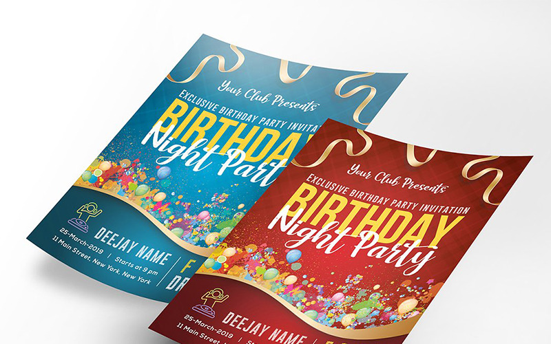 Birthday Party Flyer Poster - Corporate Identity Template