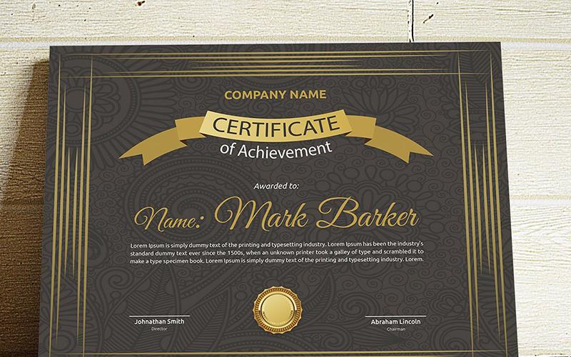 Элегантный ретро шаблон сертификата