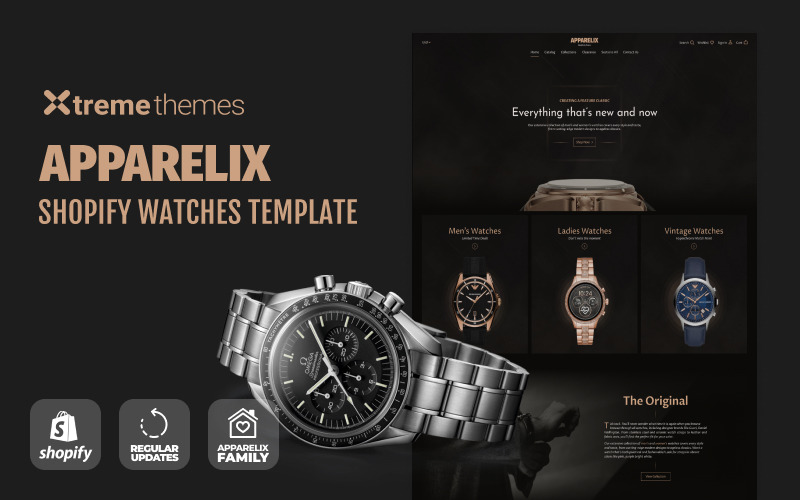 Horloges Store Website-sjabloon Shopify-thema