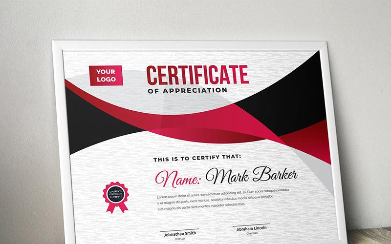 Пышный современный шаблон сертификата