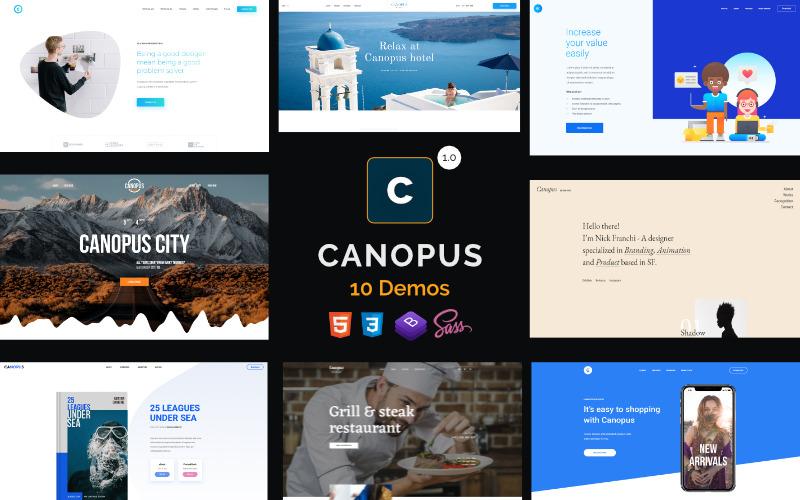 Canopus - Многоцелевой HTML-шаблон целевой страницы