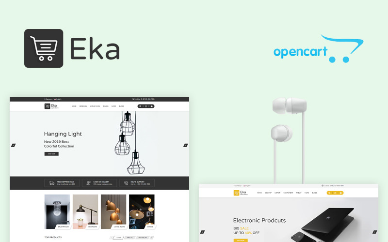 Eka multifunctionele OpenCart-sjabloon