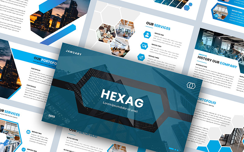 Hexag - Bussines - Keynote template