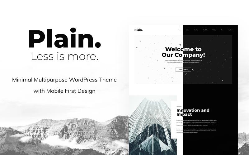 Plain - Minimal Multipurpose WordPress Theme