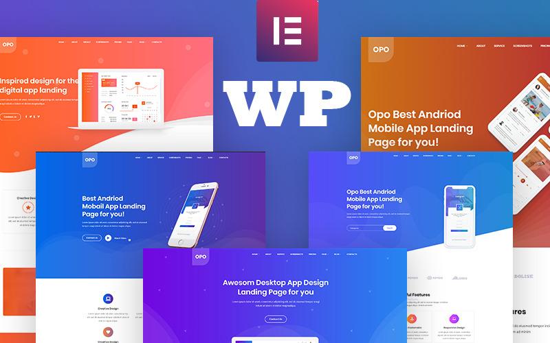 Opo - креативная адаптивная тема WordPress для приложений