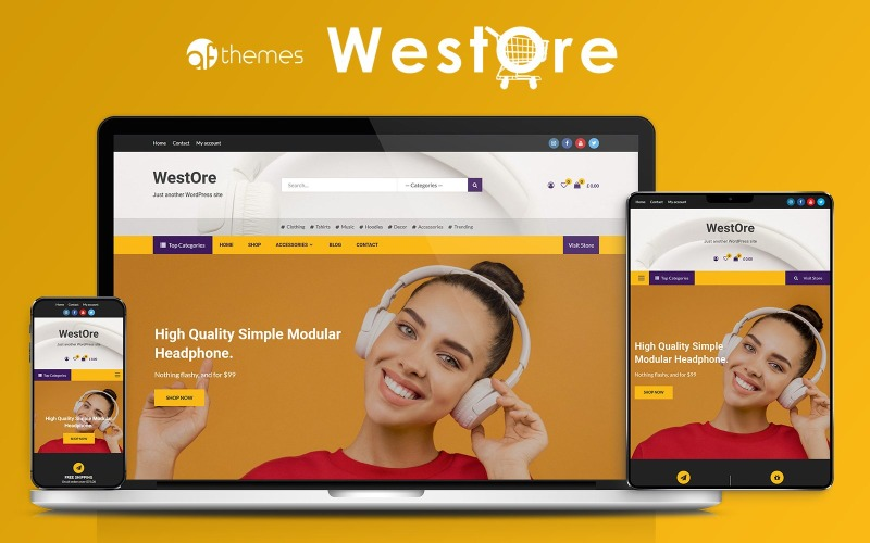 WestOre - Modernt, flexibelt och mångsidigt WooCommerce-tema