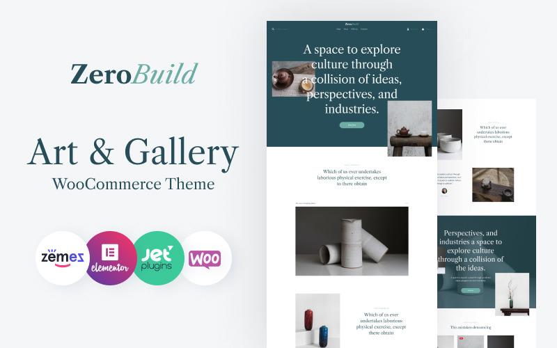 ZeroBuild - WooCommerce művészeti galéria-téma, amely fellendíti az üzletedet
