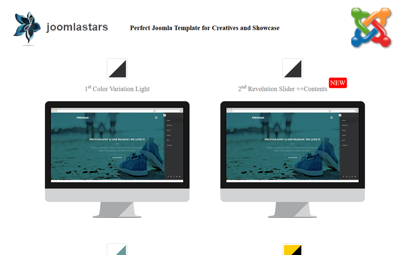 Freeman - Multipurpose One Page Joomla Template