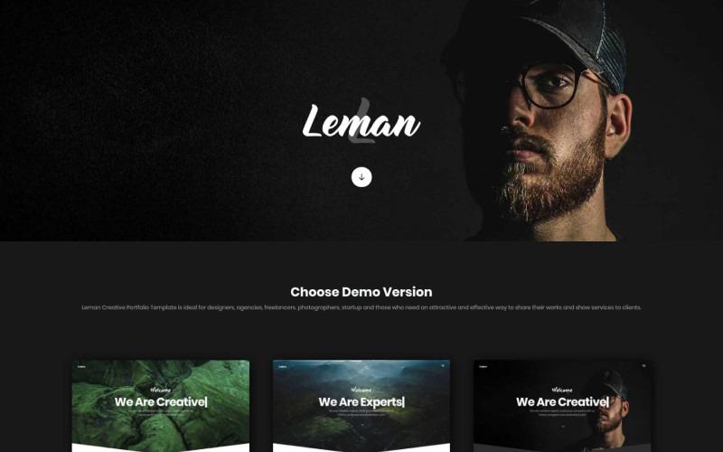 Leman - Шаблон целевой страницы для творческого портфолио