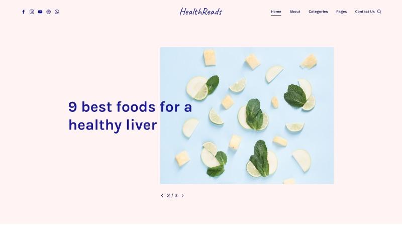 HealthReads - Modelo de site de vida saudável