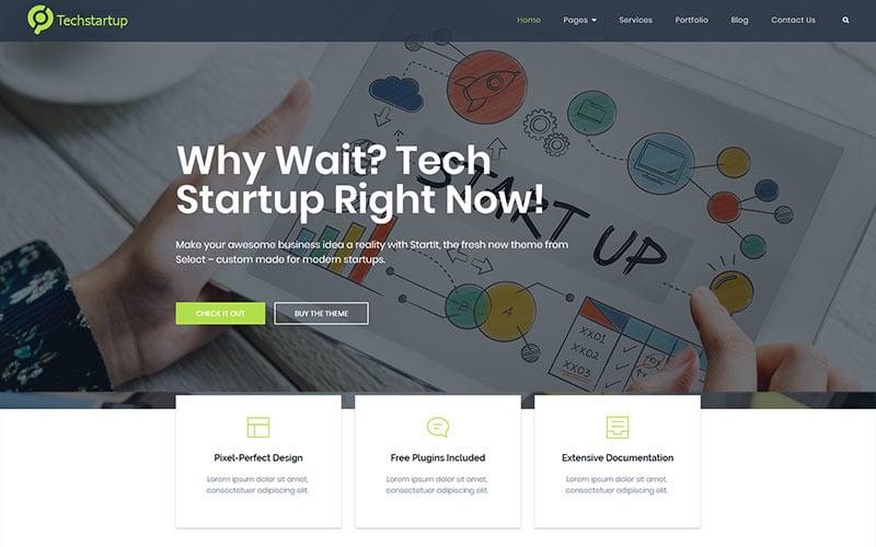 Innowacje technologiczne dla startupów Motyw WordPress