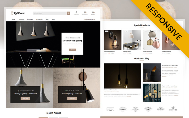 LightHouse - Tema de PrestaShop para tienda de iluminación