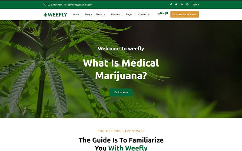 Weefly   Orvosi kannabisz és marihuána WordPress téma
