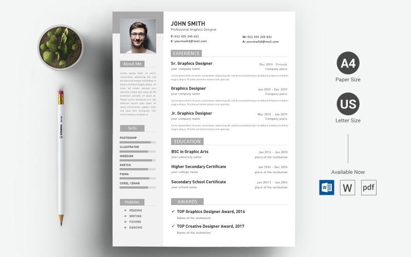 John Smith - шаблон резюме Word Docx