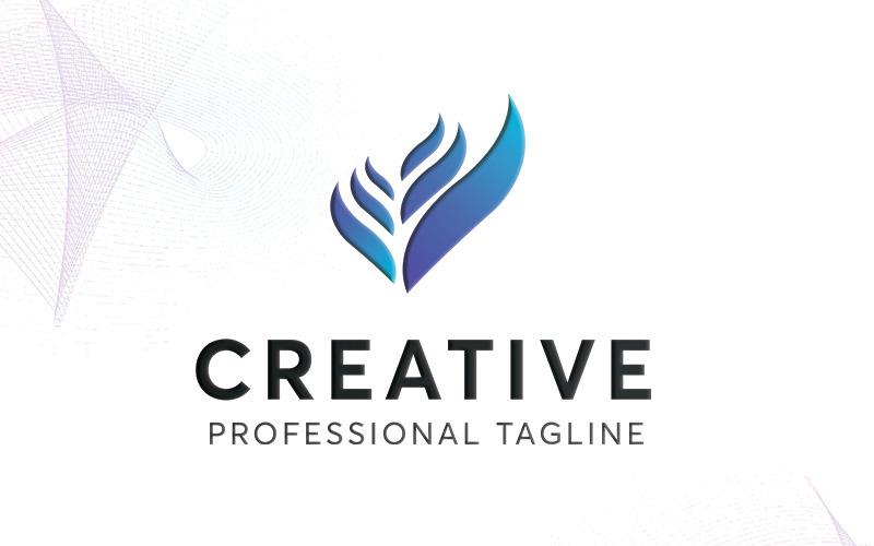Plantilla de logotipo creativo