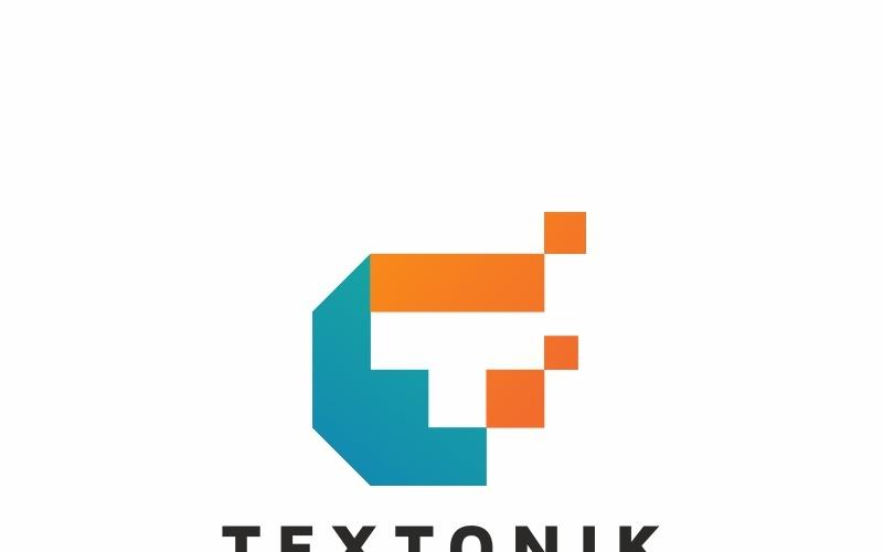 Plantilla de logotipo de letra T de Textonik